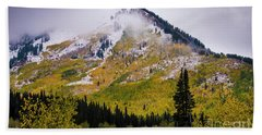 Beach Towel featuring the photograph Alpine Loop Autumn Storm - Wasatch Mountains  by Gary Whitton