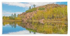 Alpine Vale Reflection  Beach Towel