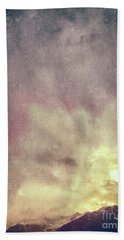 Beach Towel featuring the photograph Alps With Dramatic Sky by Silvia Ganora