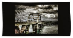 Alsea Bay Bridge Beach Towel