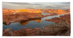 Beach Towel featuring the photograph Alstrom Point Panorama by Dustin LeFevre