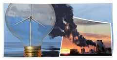 Beach Towel featuring the photograph Alternative Energy by Shane Bechler