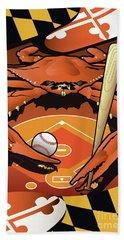 Baltimore Orioles Baseball Crab Maryland Beach Towel