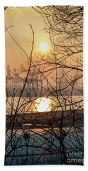 Altonaer Balkon Sunset Beach Towel