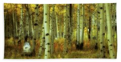Alvarado Autumn 1 Beach Towel by Marie Leslie