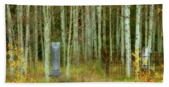 Beach Towel featuring the photograph Alvarado Cemetery 41 by Marie Leslie