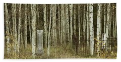 Beach Towel featuring the photograph Alvarado Cemetery 42 by Marie Leslie