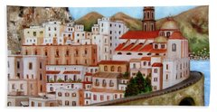 Amalfi Coast Beach Towel