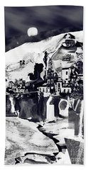 Amalfi Love Under The Moon Beach Towel