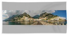 Beach Towel featuring the photograph Amalfi by Steven Sparks