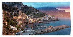 Amalfi Sunrise Beach Sheet by Brian Jannsen