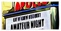 Amateur Night Beach Towel by Ed Weidman
