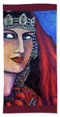 Amazigh Beauty 1 Beach Sheet