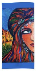 Amazigh Beauty 2 Beach Sheet