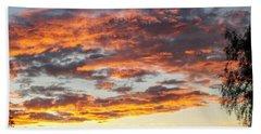 Clouds On Fire Beach Sheet