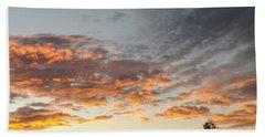 Fiery Sunset Beach Towel
