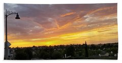 Colorful Sunset In Mission Viejo Beach Sheet