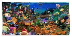 Amazing Coral Reef Beach Towel