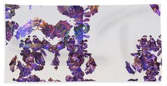 Amazing Delicate Fractal Pattern Beach Towel