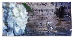 Amazing Grace - Christian Home Art II Beach Towel