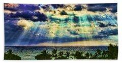 Amazing Grace - Sun Rays Before Sunset By Diana Sainz Beach Towel