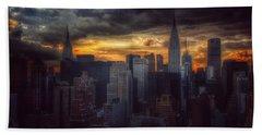 Amazing Skyline Of Manhattan - New York City Beach Sheet