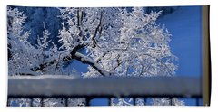 Beach Sheet featuring the photograph Amazing - Winterwonderland In Switzerland by Susanne Van Hulst