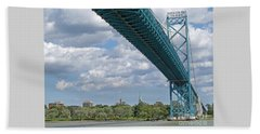 Ambassador Bridge - Windsor Approach Beach Towel