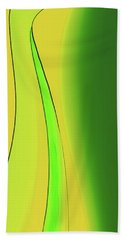 Amber And Green Beach Towel