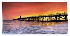 Amber Seal Beach Pier Beach Towel
