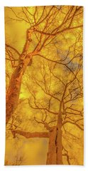 Amber Tree Abstract Beach Towel by Bruce Pritchett