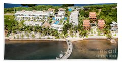 Ambergris Caye Aerial View Beach Towel