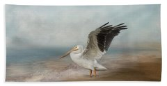 Beach Towel featuring the photograph Amble Along The Shore by Kim Hojnacki