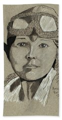 Amelia Earhart Beach Towel