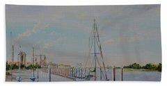 Amelia Island Port Beach Sheet by AnnaJo Vahle