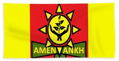 Amen Ankh Sunset Beach Towel