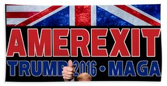 Amerexit Beach Towel by Don Olea