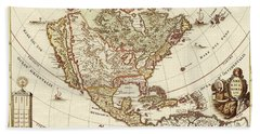 America Borealis 1699 Beach Towel