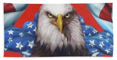 America Patriot  Beach Towel