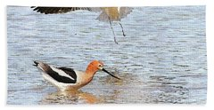 American Avocets Beach Towel