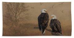 American Bald Eagle Family Beach Towel