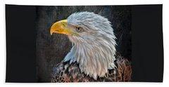 Beach Sheet featuring the photograph American Bald Eagle by Savannah Gibbs