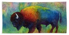 American Buffalo 6 Beach Sheet by Hailey E Herrera