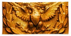 American Civil War Union Army Brass American Eagle Emblem Beach Towel