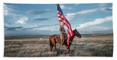 American Cowgirl Beach Towel
