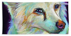 Beach Towel featuring the painting American Eskimo by Robert Phelps