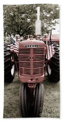 American Farmall Head On Beach Towel by Meagan  Visser