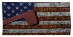 American Flag Mail Box Beach Towel