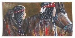American Indians Family Beach Towel