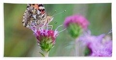 American Lady Butterfly Beach Sheet
